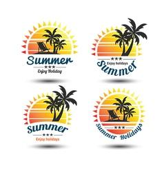 Summer label 3 vector image