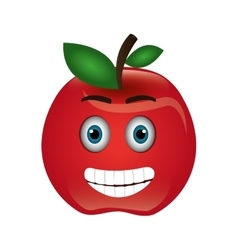 Tomato character isolated icon vector