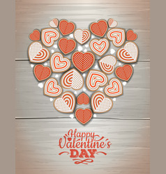 Top view of valentine cookies vector