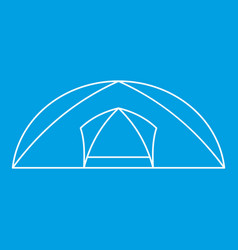 Tourist semicircular tent icon outline style vector