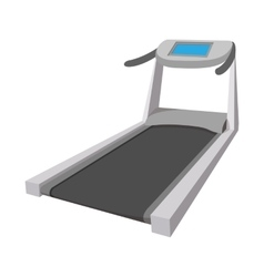 Treadmill cartoon icon vector