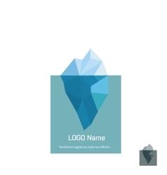 Triangle iceberg logo design vector image