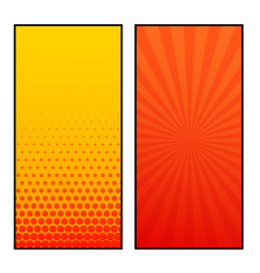 two vertical comic pages style banner design vector image