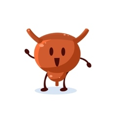 Uterus Primitive Style Cartoon Character vector