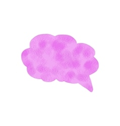Watercolor speech bubble Hand drawn vector image