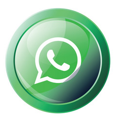 Wathsapp logo inside a green bubble icon on a vector
