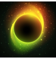 Beautiful eclipse in a distant galaxy vector image