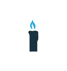 candle colorful icon symbol premium quality vector image