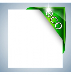 eco label tag vector image vector image