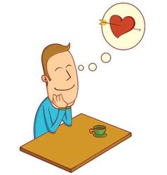 falling in love boy vector image