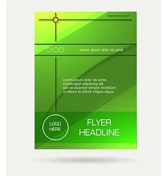 green flyer brochure vector image vector image