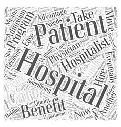 Hospitalist outsourcing word cloud concept vector