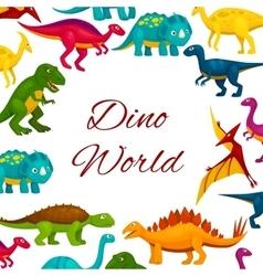 Jurassic park cartoon dinosaurs poster vector