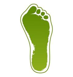 Old man green foot print vector