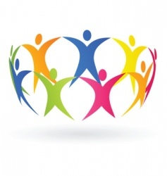 people and cooperation vector image vector image