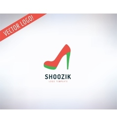 Shoes logo icon Style Cloth or Shop and vector image