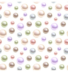 Spherical pearls of different colors vector image
