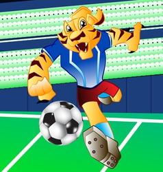 tiger football mascot vector image vector image