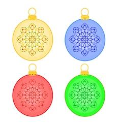 Christmas balls rosette christmas trimmings vector image