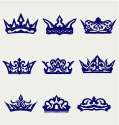 Crown collection vector image vector image
