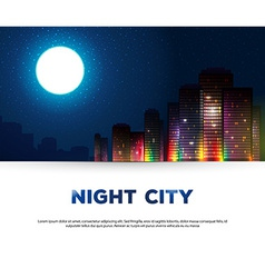Night urban city background vector image