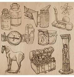 Objects - An hand drawn Converted vector image vector image
