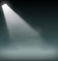 Spotlight illuminates smoke on a dark background vector