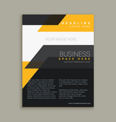 stylish business flyer brochure design vector image vector image