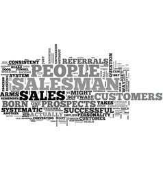 A tale of two salesmen text word cloud concept vector