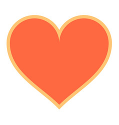 flat heart sign like icon favorite button vector image vector image