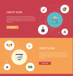 Flat icons income administration cash and other vector