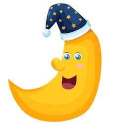 Happy Moon vector image vector image