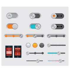 ui buttons set vector image