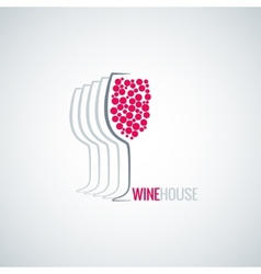 wine glass abstract background vector image vector image