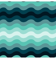 Abstract wavy ocean seamless pattern background vector image