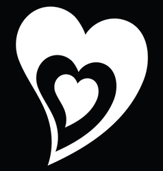 heart black and white vector image