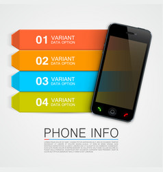 phone info banner vector image vector image