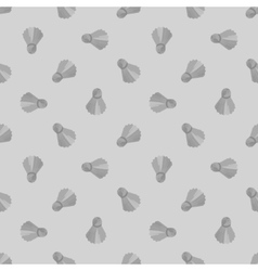 Seamless grey badminton ball pattern shuttlecock vector image