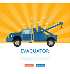 website design with tow truck vector image vector image