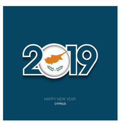 2019 cyprus typography happy new year background vector