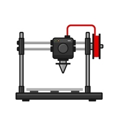 3d Printer on White Background vector image