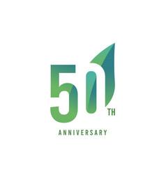 50 th anniversary logo template design vector