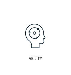 Ability concept line icon simple element vector