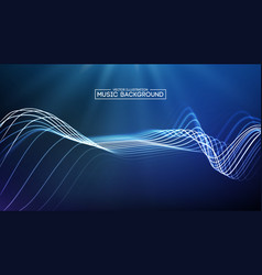 abstract blue music wave background big data vector image