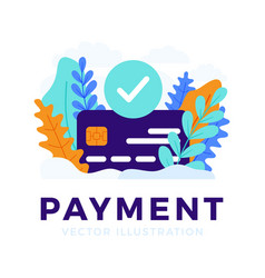 Accepted payment credit card stock for landing vector