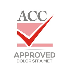 Approved icon acc concept vector