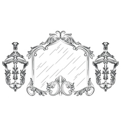 Baroque mirror frame vector