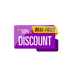 best discount price isolated sticker vector image