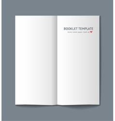 Blank booklet with shadow isolated on background vector