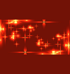 bloody background with shining light metal stars vector image